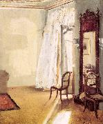 Adolph von Menzel The French Window oil painting artist