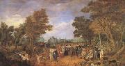 Adriaen van de Venne Allegory of the Truce of 1609 Between the Archduke of Austria (mk05) oil painting picture wholesale