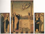 Carlo di Braccesco The Annunciation with Saints A triptych (mk05) oil painting artist
