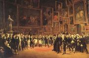 Francois-Joseph Heim Charles X Distributing Awards to the Artists Exhibiting at the Salon (mk05) oil painting artist