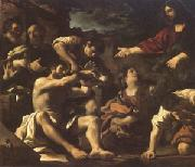 Giovanni Francesco Barbieri Called Il Guercino The Raising of Lazarus (mk05) oil painting artist