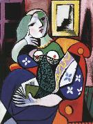 pablo picasso Woman with Book (mk04) oil painting picture wholesale