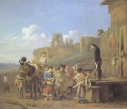 Karel Dujardin A Party of Charlatans in an Italian Landscape (mk05) oil painting picture wholesale