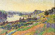 Luce, Maximilien The Seine at Herblay oil painting picture wholesale