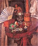Mashkov, Ilya Still-Life with a Fan oil painting artist