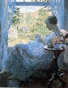 Melchers, Gari Julius Young Woman Sewing oil painting picture wholesale