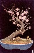 Miller, Lilian May Japanese Dwarf Plum Tree oil painting artist