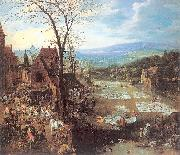 Momper II, Joos de A Flemish Market and Washing-Place oil painting picture wholesale