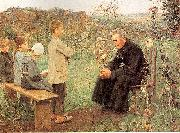 Muenier, Jules-Alexis The Catechism Lesson oil painting artist