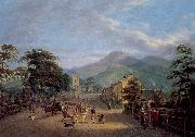 Mulvany, John George View of a Street in Carlingford oil painting picture wholesale