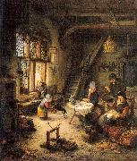 Ostade, Adriaen van Peasant Family in an Interior oil painting picture wholesale