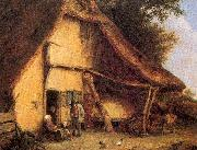 Ostade, Adriaen van A Peasant Family Outside a Cottage oil painting picture wholesale