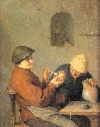 Ostade, Adriaen van The Drinker and the Smoker oil painting picture wholesale