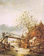 Ostade, Isaack Jansz. van A Winter Scene with an Inn oil painting picture wholesale