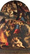 Paggi, Giovanni Battista Madonna and Child with Saints and the Archangel Raphael oil painting picture wholesale