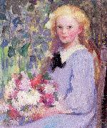 Palmer, Pauline Girl with Flowers oil painting picture wholesale