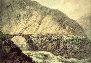 Pars, William The Devil's Bridge in the Canton of Uri oil painting artist