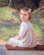 Perry, Lilla Calbot Girl with a Pink Bow oil painting picture wholesale