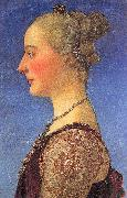 Pollaiuolo, Piero Portrait of a Young Woman oil painting artist
