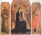 Stefano di Giovanni Sassetta Viirgin and child Enthroned with six Angels (mk05) oil painting artist
