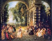 WATTEAU, Antoine The Pleasures of the Ball oil painting picture wholesale
