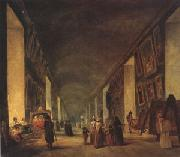 louvre The Grande Galerie at the Louvre between (mk05) oil painting picture wholesale