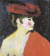 Alexei Jawlensky The Red Shawl (mk09) oil painting artist