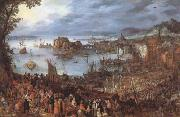 BRUEGHEL, Jan the Elder Great Fish-Market (mk08) oil painting artist