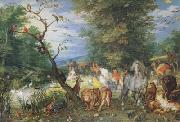 BRUEGHEL, Jan the Elder The Animals entering thte Ark (mk08) oil painting artist