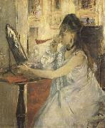 Berthe Morisot Young Woman Powdering Herself (mk09) oil painting picture wholesale