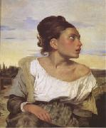 Eugene Delacroix Orphan Girl at the Cemetery (mk05) oil painting artist