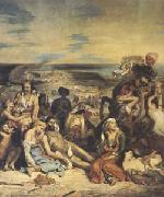 Eugene Delacroix Scenes of the Massacres of Scio;Greek Families Awaiting Death or Slavery (mk05) oil painting artist