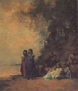 Eugene Fromentin Eqyptian Women on the Edge of the Nile (san12) oil painting artist