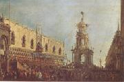 Francesco Guardi The Doge Takes Part in the Festivities in the Piazzetta on Shrove Tuesday (mk05) oil painting artist