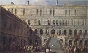 Francesco Guardi The Coronation of the Doge on the Staircase of the Giants at the Ducal Palace (mk05) oil painting artist
