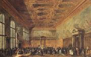Francesco Guardi rThe Doge Grants an Andience in the Sala del Collegin in the Ducal Palace (mk05) oil painting artist