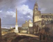 Francois-Marius Granet The Church of Trinita dei Monti in Rome (mk05) oil painting artist
