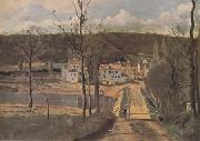 Jean Baptiste Camille  Corot Les Maisons Cabassud a Ville-d'Avray (mk11) oil painting picture wholesale