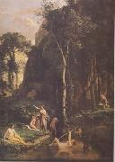 Jean Baptiste Camille  Corot Diane surprise an bain par Aceon (mk11) oil painting picture wholesale