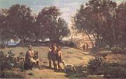Jean Baptiste Camille  Corot Homere et les bergers (mk11) oil painting picture wholesale
