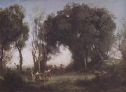 Jean Baptiste Camille  Corot Une matinee (mk11) oil painting picture wholesale