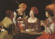 LA TOUR, Georges de The Cheat with the Ace of Diamonds (mk05) oil painting artist
