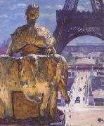 Louis Welden Hawkins THe Eiffel Tower,Seen from the Trocadero (mk06) oil painting artist
