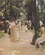 Max Liebermann The Parrot Walk at Amsterdam Zoo (mk09) oil painting picture wholesale
