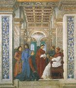 Melozzo da Forli Sixtus IV,his Nephews and his Librarian Palatina (mk08) oil painting artist