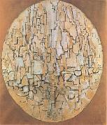 Piet Mondrian Oval Composition (Tree Study) (mk09) oil painting picture wholesale
