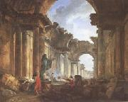 ROBERT, Hubert Imaginary View of the Grande Galerie in Ruins (mk05) oil painting picture wholesale