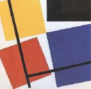 Theo van Doesburg Simultaneous Counter-Composition (mk09) oil painting artist
