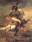 Theodore   Gericault An Officer of the Imperial Horse Guards Charging (mk05) oil painting artist