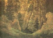 Caspar David Friedrich Cave and Funerary Monument (mk10) oil painting picture wholesale